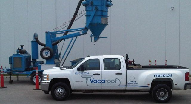 Vacaroof truck and equipment